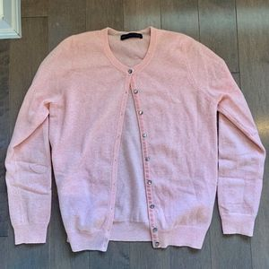 Amazing M&S 100% Cashmere Pink Cardigan